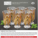 Gold Egypt Star 6pcs Footed Tumbler Set